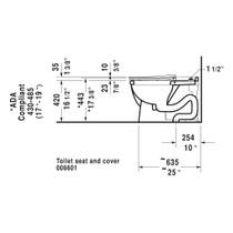 Duravit 216501 Starck 3 Floorstanding Toilet