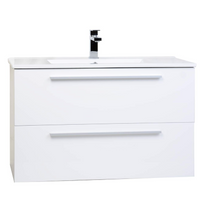 "Zoom 30"" Wall Mount Bathroom Vanity White"