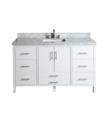 "Mackenzie 60"" Bathroom Single  Sink Vanity White"