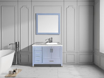 "Armada 40"" Right Hand Bathroom Vanity Ice Grey"