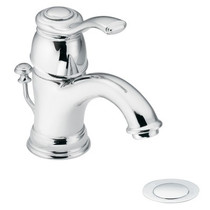 Kingsley One-Handle Low Arc Bathroom Faucet Chrome Finish