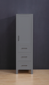 "Armada Side Column Linen Tower Grey 68"" H x 19 x 22"" D"