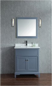 "Argento 24"" Bathroom Vanity Ice Grey"