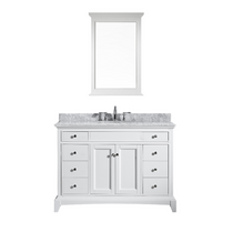 "Argento 48"" Bathroom Vanity White"