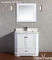 "Annabelle 36"" White Bathroom Vanity"