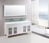 "Marbaya 72"" White Bathroom Vanity"