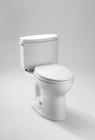 Toto Drake II Two-Piece Toilet, 1.28 GPF, Elongated Bowl