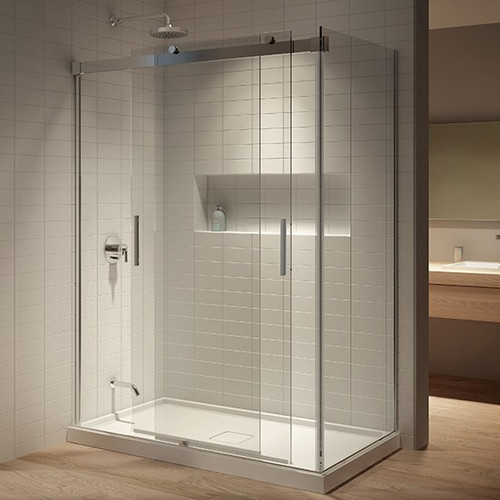 "Kalia Akcess Corner Shower Enclosure 60''X 36""X 77''"