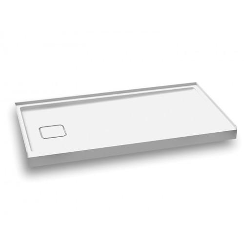 "KALIA KOVER Left 60"" X 32"" X 3"" Left-hand drain and integrated tiling flanges on 3 sides"