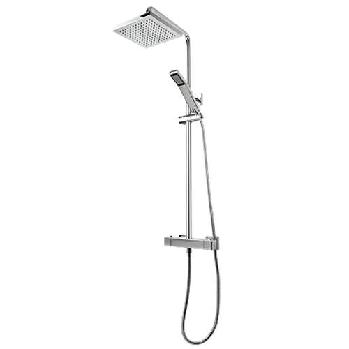 Rubi Hana Thermostatic Exposed Shower System Chrome