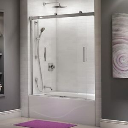 "Kalia AKCESS  60"" X 60"" Alcove sliding bathtub door Chrome"