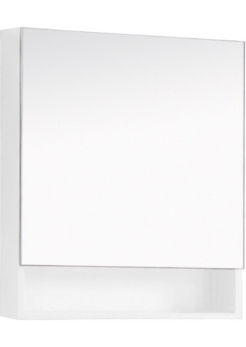"""24"""" Medicine Cabinet Mirror With Shelf White/ Espresso"""