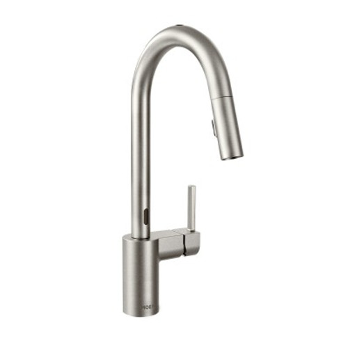 Moen Align One Handle High Arc Pulldown Kitchen Faucet Spot Resist