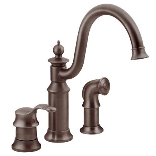 Moen Waterhill One Handle High Arc Kitchen Faucet Oil Rubbed Bronze