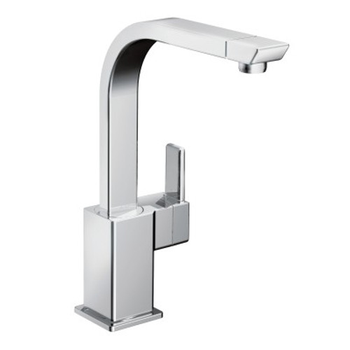 Moen 90 Degree One-Handle High Arc Kitchen Faucet Chrome Finish