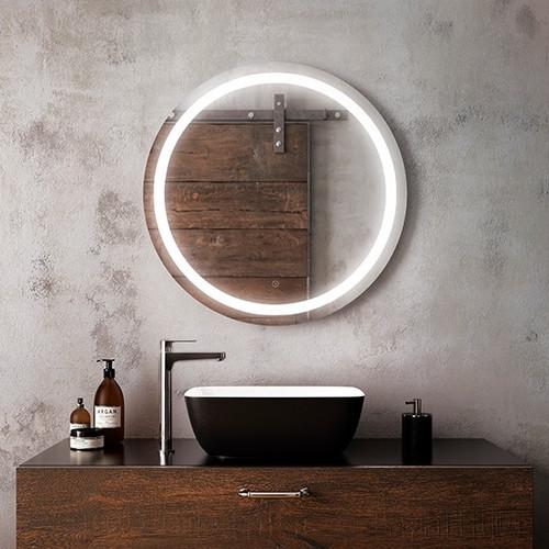 """Kalia Effect Round Illuminated LED Mirror 30"""" x 30"""""""