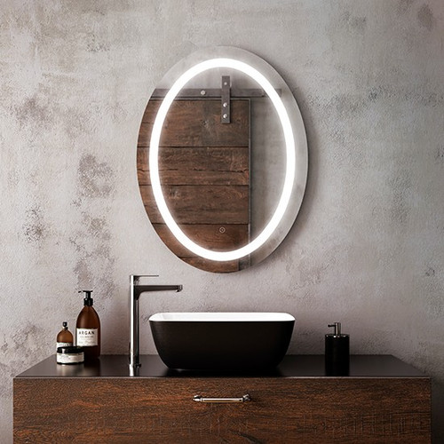 "Kalia Effect Oval Illuminated LED Mirror 24"" X 32"""