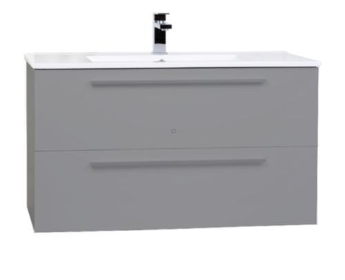 """Zoom 30"""" Wall Mount Bathroom Vanity Ice Grey"""