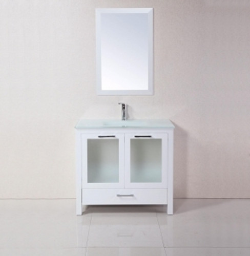 "Madrid 30"" Bathroom Vanity White"