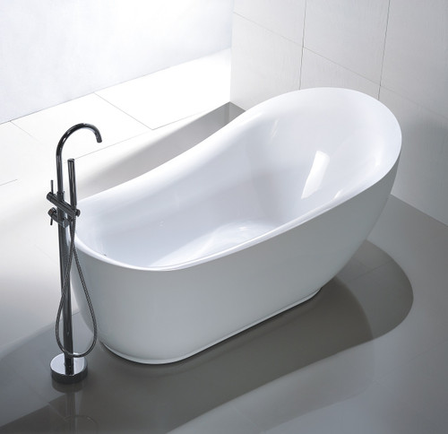 "Bayfield 71"" Free Standing Bath Tub & Faucet Combo"