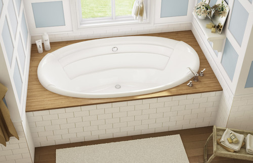 MAAX  Agora White Acrylic Tub With Combined Hydrosens And Bubble Tub