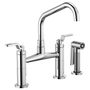 Brizo LITZE™ BRIDGE FAUCET WITH ANGLED SPOUT AND INDUSTRIAL HANDLE