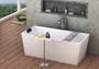 Zitta Polished Stainless Steel Bathtub Caddy