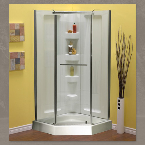 Mirolin 38 Quot Neo Angle Shower Package With Walls York Taps