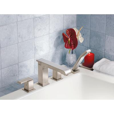 Delta Arzo Roman Tub Faucet Trim With Hand Shower Stainless York Taps