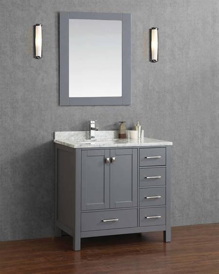 "armada 36"" bathroom vanity ice grey - york taps 36 Bathroom Vanity"