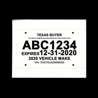 paper license plate template Waterproof