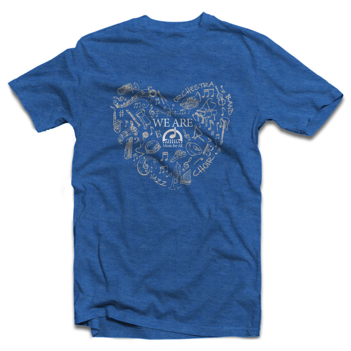 We Are MfA Heart Heather Blue T-Shirt