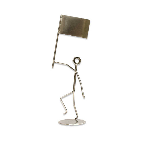 Flag Metal Figure