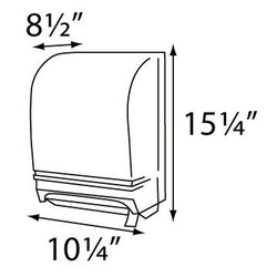 Lever Roll Paper Towel Dispenser, Dimensions