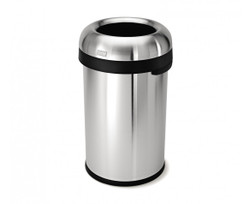 Simplehuman, Bullet Open Trash Can, Stainless Steel, 80-liter (CW1469)