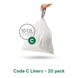 Simplehuman Custom Fit Trash Can Liners, Code C - 30 Pack