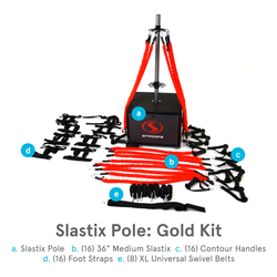 Stroops Slastix Pole, Gold Kit, 57-Piece Portable Anchoring System