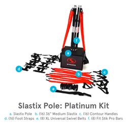 Stroops Slastix Pole, Platinum Kit, 65-Piece Portable Anchoring System (SPOLEAK)