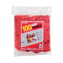 Multi-Purpose Shop Towels, Red, ST-100