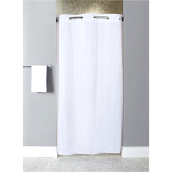 "HOOKLESS Shower Curtain, White, 74"" x 42"""