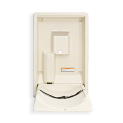 Koala Kare Standard Vertical Plastic Baby Changing Station, KB101 - Cream, Open
