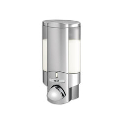 AVIVA Single Soap Dispenser, 1 Chamber, Satin Silver