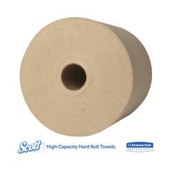 Kimberly-Clark Scott Hard Roll Towels, Brown, 04142 (800 ft/roll) (12 rolls/case)