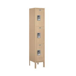 Salsbury Triple Tier Standard Metal Locker Tan