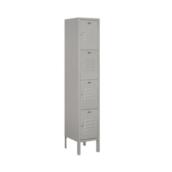 Salsbury Four Tier Standard Metal Locker Grey