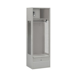 Salsbury Open Access Standard Metal Locker Grey