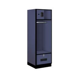 Salsbury Open Access Designer Wood Locker Blue