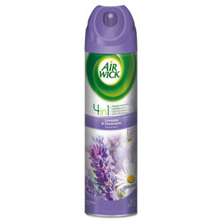 Air Wick 4 in 1 Aerosol Air Freshener, 8 oz, Lavender & Chamomile, 05762CT (12/case)