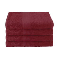 25x52 Ring Spun Bath Towel, Burgundy, 10.5lb (Monarch-Bath-Burgundy)