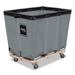 Multi-use material handling cart with built-in permanent liner.